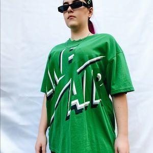 Green Nike Oversized Graphic Tee